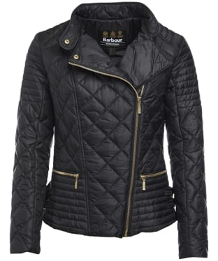 Women's Barbour International Wyvis Quilted Jacket - Black