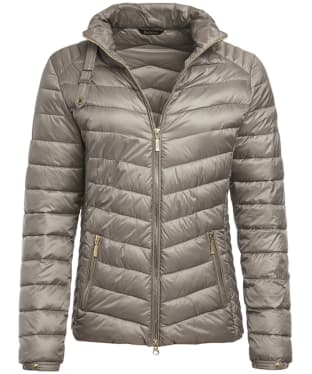 Women's Barbour International Triple Quilted Jacket - Taupe