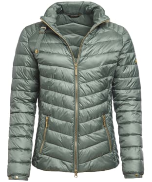 Women's Barbour International Triple Quilted Jacket - Light Khaki
