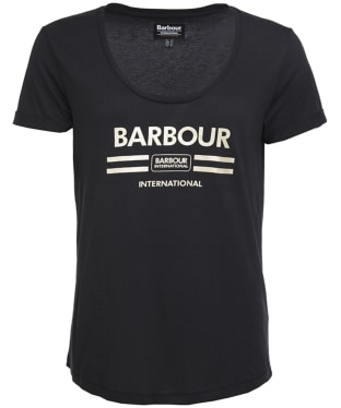 Women's Barbour International Leader Tee - Black
