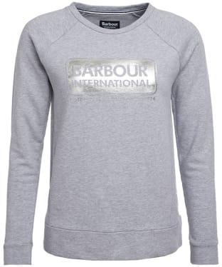 Women's Barbour International Bearings Sweat - Light Grey Marl