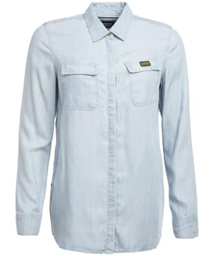 Women's Barbour International Track Shirt - Bleach Wash