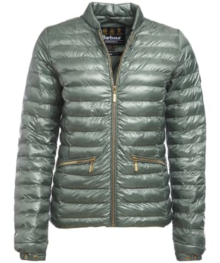 Women's Barbour International Lapper Quilted Jacket - Khaki