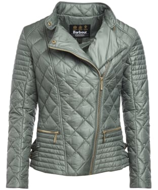 Women's Barbour International Wyvis Quilted Jacket - Light Khaki