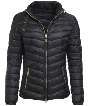 Women's Barbour International Triple Quilted Jacket - Black