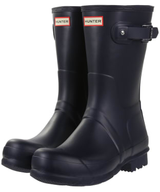 Men's Hunter Original Short Wellington Boots - Navy