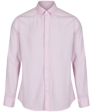 Men's Hackett Garment Dye Delave Logo Shirt - Baby Pink