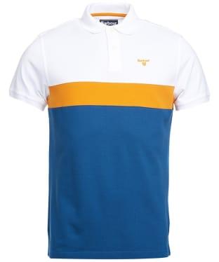 Men's Barbour Gill Panel Polo Shirt - Deep Blue