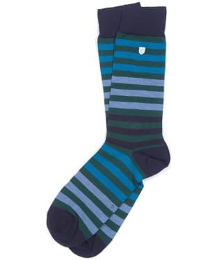 Men's Barbour Royston Socks - Navy / Green