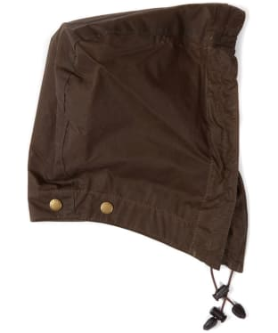 Barbour Lightweight Wax Hood - Dark Sand
