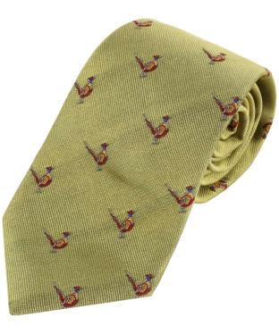 Men's Alan Pain Ripon Sitting Pheasant Tie - Gold