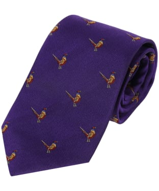 Men's Alan Pain Ripon Sitting Pheasant Tie - Purple