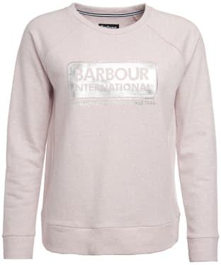 Women's Barbour International Bearings Sweat - Pale Pink Marl