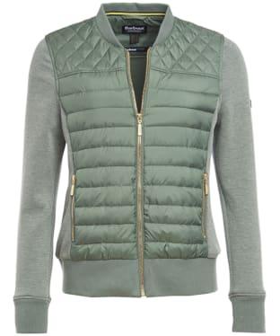 Women's Barbour International Track Sweater Jacket - Light Khaki