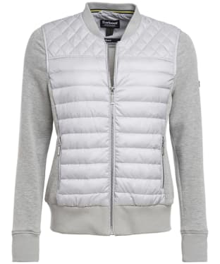 Women's Barbour International Track Sweater Jacket - Ice White