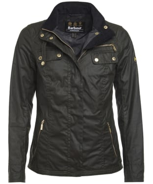 Women's Barbour International Leader Wax Jacket