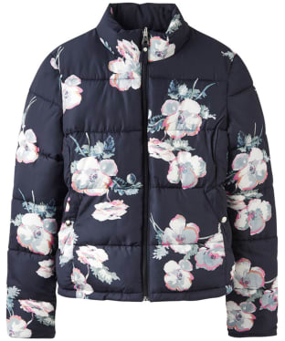 Women's Joules Claremont Reversible Puffa Jacket - Navy Poppy