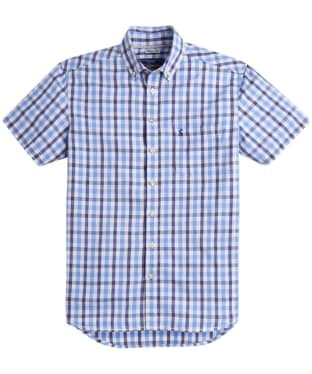 Men's Joules Short Sleeve Wilson Classic Fit Shirt - Blue Gingham