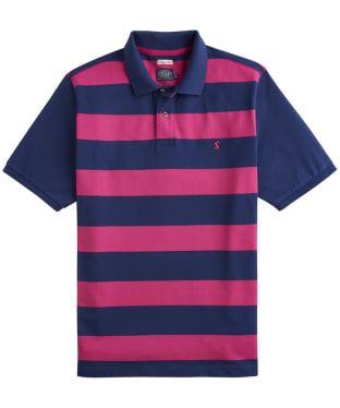 Men's Joules Filbert Polo Shirt - Navy / Pink Stripe