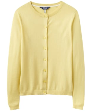 Women's Joules Skye Button Front Cardigan - Lemon