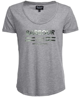Women's Barbour International Leader Tee - Light Grey Marl