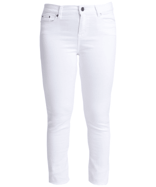 Women's Barbour Essential Slim Trousers - White