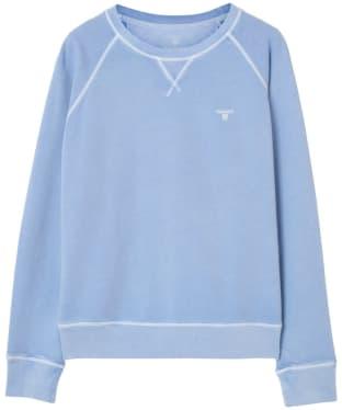 Women's GANT Sunbleached Crew Neck Sweatshirt - Capri Blue