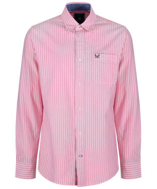 Men's Crew Clothing Whitmore Classic Stripe Shirt - Ocean Coral