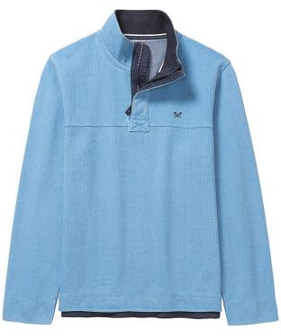 Men's Crew Clothing Padstow Pique Half Zip Sweater - Heritage Blue