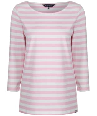 Women's Crew Clothing Ultimate Breton - White Linen / Classic Pink
