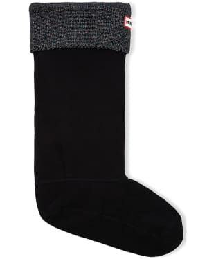 Hunter Original Glitter Cuff Boot Sock - Black Multi