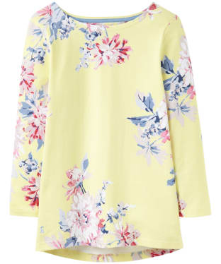 Women's Joules Harbour Print Jersey Top - Lemon Whitstable Floral