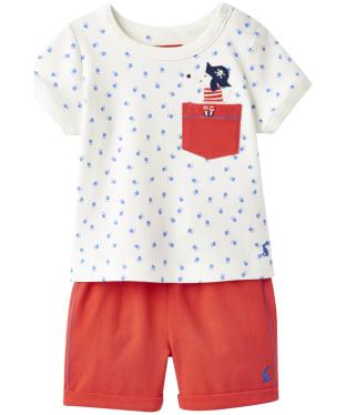 Boy's Joules Baby Barnacle Top and Shorts Set, 3-9m - Sea Dog Pocket