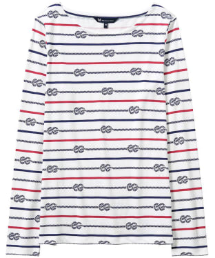 Women's Crew Clothing Essential Rope Stripe Breton - White / Marine / Red