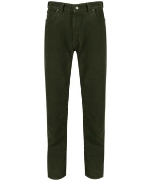 Men's R.M. Williams Overseer Luxury Moleskin Jeans - Forest Green