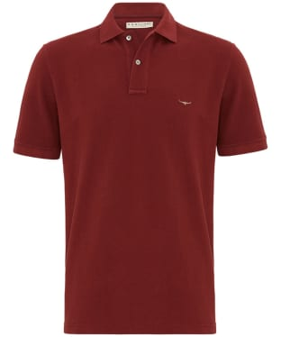 Men's R.M. Williams Rod Polo Shirt - Barn Red