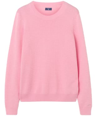 Women's GANT Piqué Textured Crew Sweater - Shadow Rose