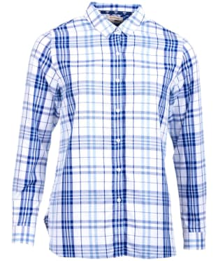 Women's Barbour Selsey Check Shirt - White / Coast Blue