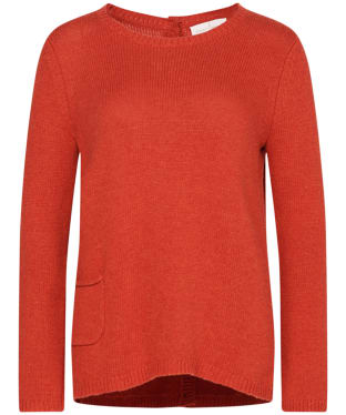 Women's Seasalt Lino Cut Jumper - Tomato