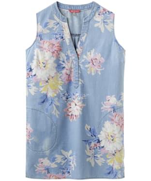 Women's Joules Tilda Chambray Tunic - Chambray Whitstable Floral