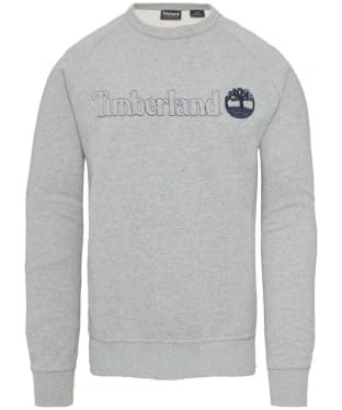 Men's Timberland Exeter River Logo Crew Sweater - Grey Heather