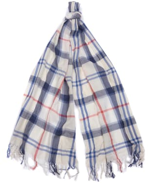 Women's Barbour Shield Tartan Scarf