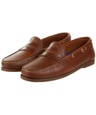 Men's Dubarry Spinnaker Slip-on Deck Shoes - Brown
