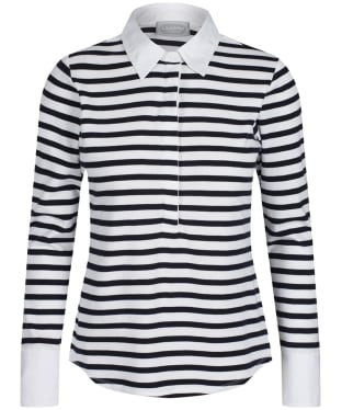 Women's Schöffel Salcombe Shirt - Harbour Stripe Navy