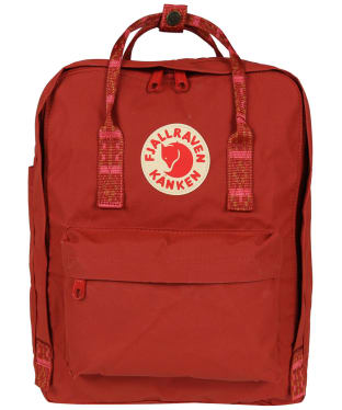 Fjallraven Kanken Backpack - Deep Red / Folk Pattern