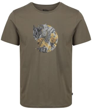 Men's Fjallraven Rock Logo T-Shirt - Tarmac
