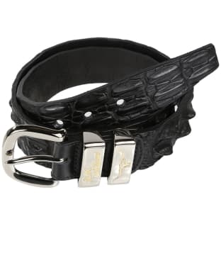 "Men's R.M. Williams 1 1/2"" Australian Saltwater Crocodile Belt - Black"