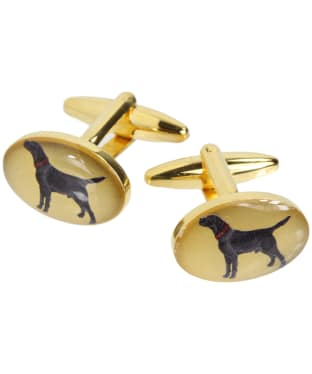 Men's Soprano Black Labrador Country Cufflinks - Black Labrador