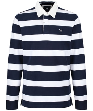 Men's Crew Clothing Long Sleeve Rugby Top - Navy / White