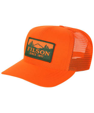 Men's Filson Logger Mesh Cap - Blaze Orange